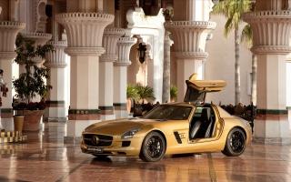 2010 Mercedes Benz SLS AMG Desert Gold 4