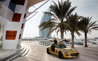 2010 Mercedes Benz SLS AMG Desert Gold