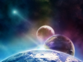 3 Planets Wallpaper Space Nature