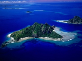 Aerial View of Monu Island Wallpaper Fiji Islands World