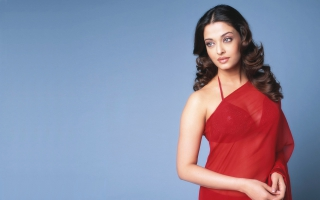 Aishwarya rai Transparent Red Saree