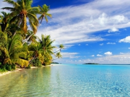 Aitutaki Lagoon Wallpaper Beaches Nature