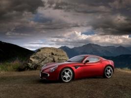 Alfa Romeo 8C Competizione Side Wallpaper Alfa Romeo Cars