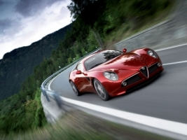 Alfa Romeo 8C Competizione Speed Wallpaper Alfa Romeo Cars