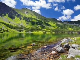 Alpine Lake Wallpaper Landscape Nature