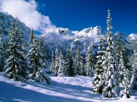 Alpine Lakes Wilderness Wallpaper Winter Nature