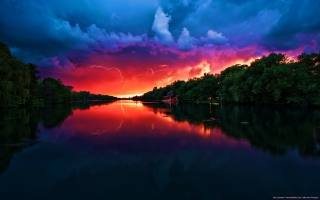 Amazing Red Sky