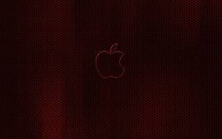 Apple Dark Red Glow