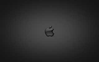 Apple in Glass Black