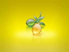 Aqua Lemon Wallpaper Abstract 3D
