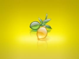 Aqua Lemon Wallpaper Abstract 3D