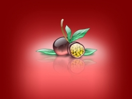 Aqua Passion Fruit Wallpaper Abstract 3D