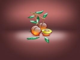 Aqua Peach Wallpaper Abstract 3D
