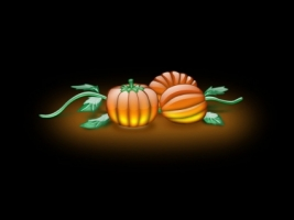 Aqua Pumpkins Wallpaper Abstract 3D
