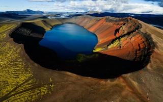 Arctic Volcanic Lake