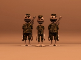 Army Group Wallpaper 3D Characters 3D