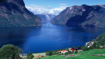 Aurlandsfjord Norway Panorama
