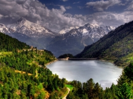Aussois dam Wallpaper France World