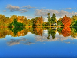 Autumn lake Wallpaper Autumn Nature