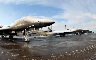 B 1 Lancers at Ellsworth Air Force Base