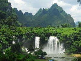 Ban Gioc Waterfall Wallpaper Vietnam World