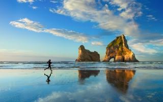 Beach Sunset Jog 4K