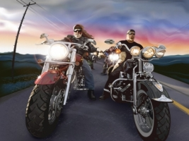 Bikers Wallpaper 3D Characters 3D