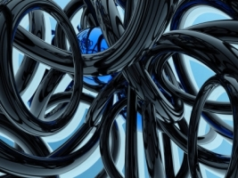 Black and Blue Wallpaper Abstract 3D