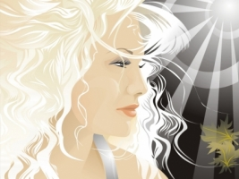 Blond Vector Wallpaper Vector 3D