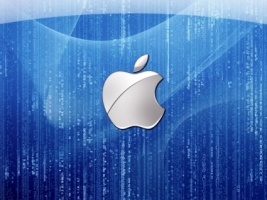 Blue Apple Wallpaper Apple Computers
