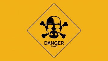 Breaking Bad Walt Danger Toxic Sign