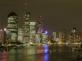 Brisbane by night Wallpaper Australia World