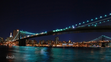 Brooklyn Bridge Harvest Moon New York
