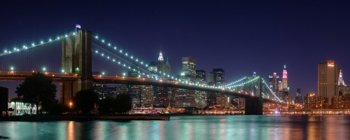Brooklyn Bridge Panorama Dual Monitor