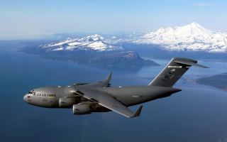 C 17 Globemaster III Over Alaska
