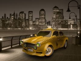 Cabbie Wallpaper Abstract 3D