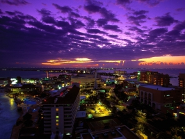 Cancun at Twilight Mexico