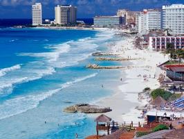 Cancun Shoreline  Mexico