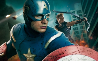 Captain America in Avengers Movie