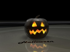 Carbon pumpkin Wallpaper Halloween Holidays