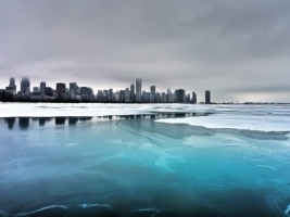 Chicago Winter Wallpaper City World