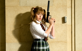 Chloe Moretz as Hit Girl in Kick Ass