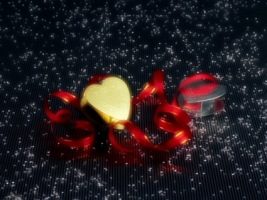 Christmas Hearts Wallpaper Christmas Holidays