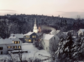 Christmas in New England Wallpaper Winter Nature