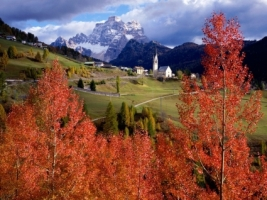 Church of Selva Di Cadore Wallpaper Italy World
