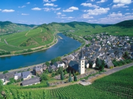 City of Bremm and Moselle River Wallpaper Germany World