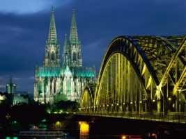 Cologne Cathedral Hohenzollern Bridge Wallpaper Germany World