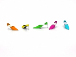 Colored Shoes Wallpaper Abstract 3D