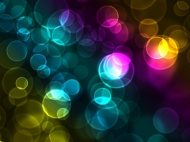 Colorful Bokeh Wallpaper Abstract 3D