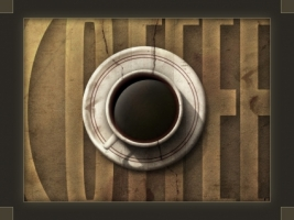 Cup of Coffee Wallpaper Abstract 3D